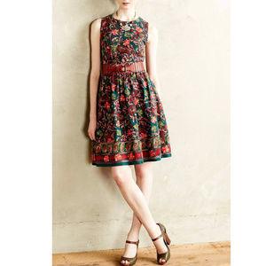 Anthropologie Adelyn Rae Needlepoint Garden Dress